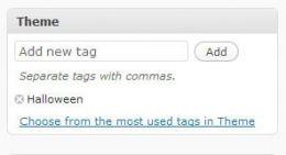 WordPress Custom Taxonomy Input Panels