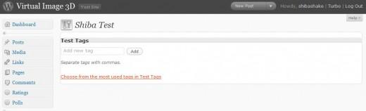 Example WordPress tag meta-box.