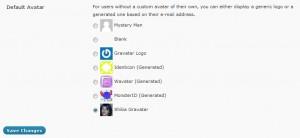 New Shiba Gravatar option in Settings >> Discussion.