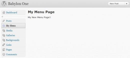 Add a new menu page with add_menu_page.