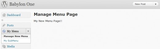 Customize the first sub-menu name.