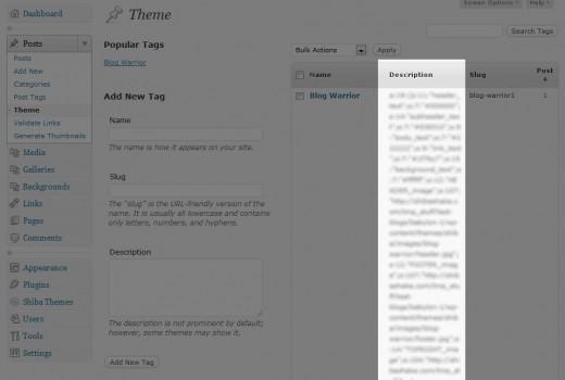Standard user interface for WordPress custom taxonomies.
