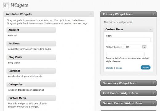 Assign menubar using the Widgets interface.