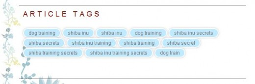 Example Shiba Tag Cloud Widget
