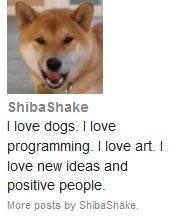 Example Shiba Author Widget